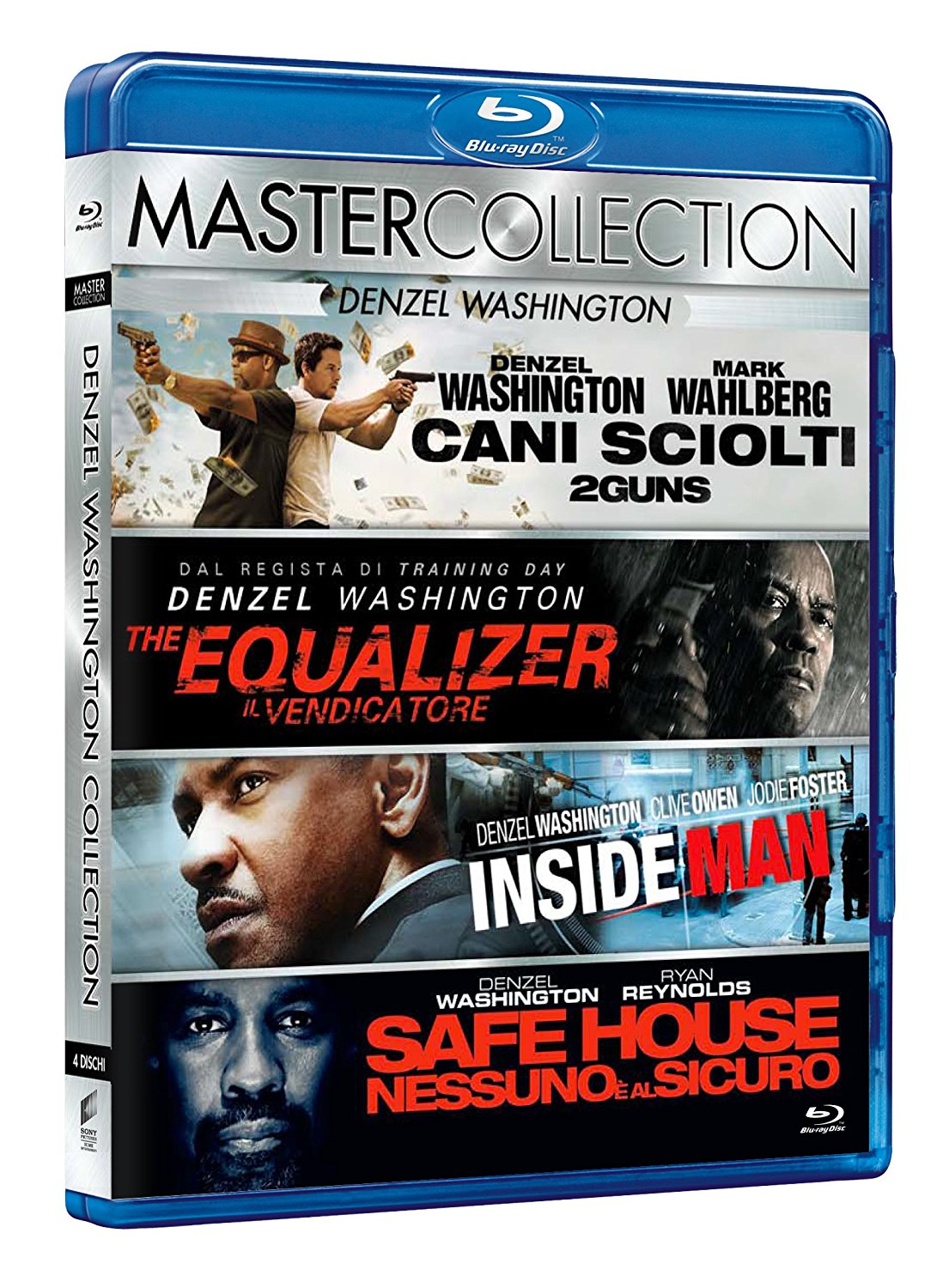 Denzel Washington master collection: Inside man (2006) - Safe house (2012) - Cani sciolti (2013) - The equalizer (2014)