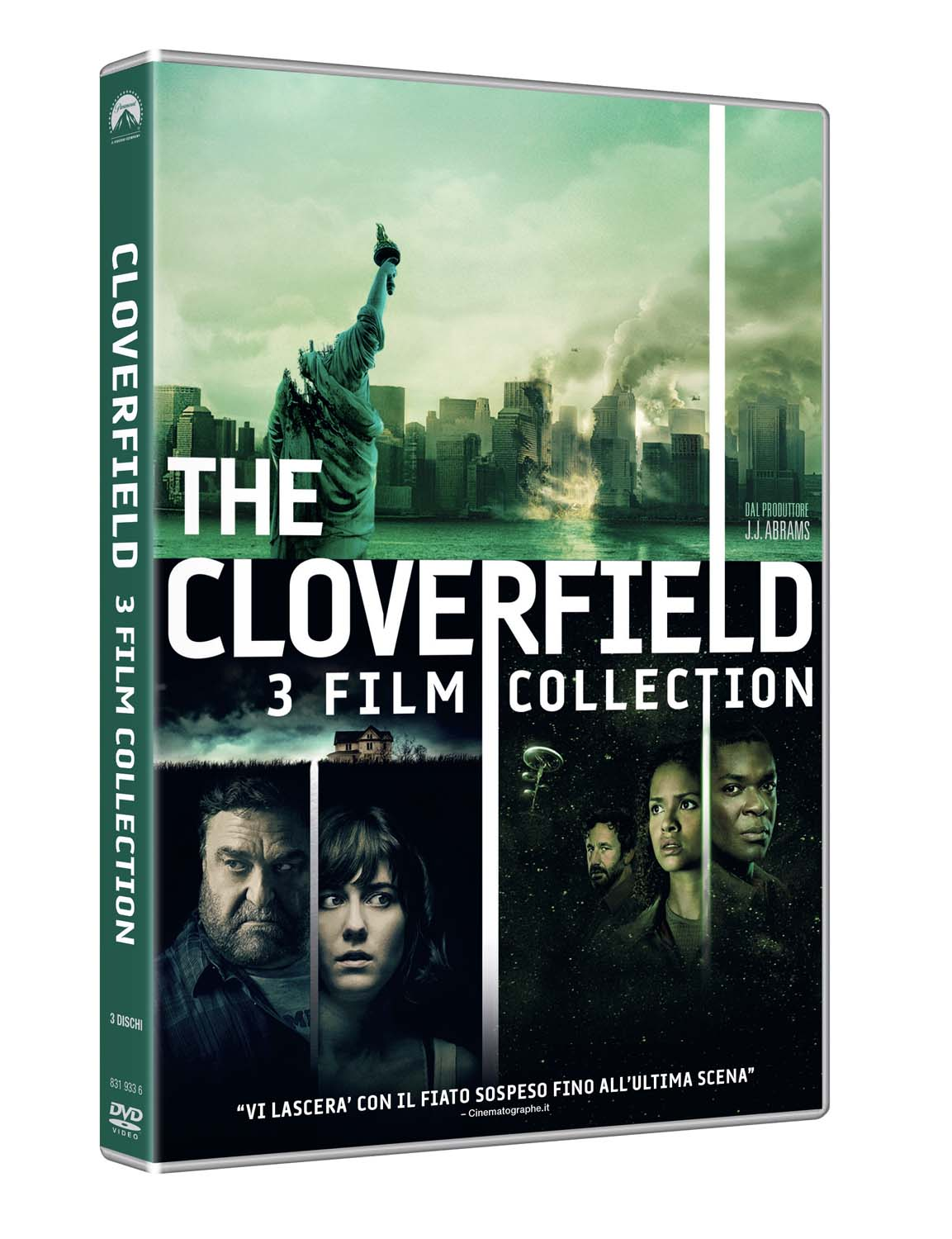 Cloverfield collection: Cloverfield (2008) - 10 Cloverfield Lane (2016) - The Cloverfield paradox (2018)