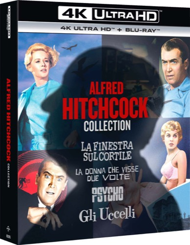 Alfred Hitchcock collection: La donna che visse due volte - La finestra sul cortile - Psycho - Gli uccelli
