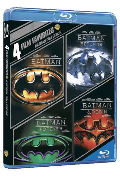Batman - Anthology 4 film: Batman (1989) - Batman il ritorno (1992) - Batman forever (1995) - Batman e Robin (1997) (DC Comics) (4K)