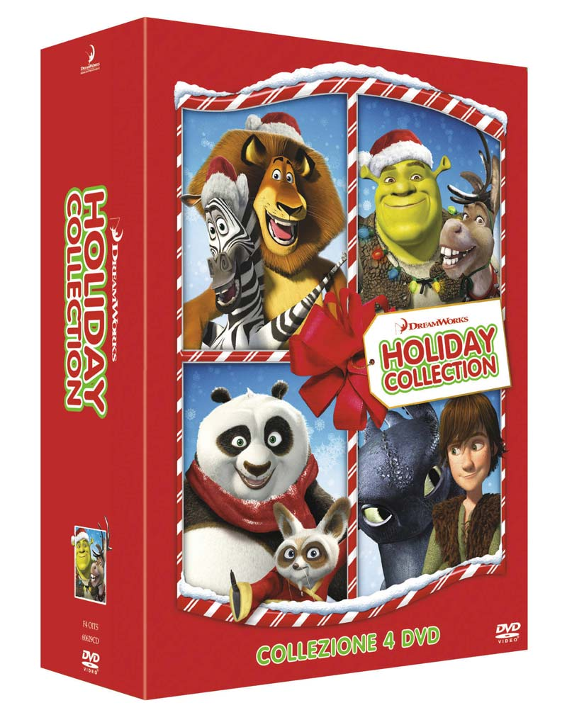 Dreamworks Christmas shorts collection: Kung Fu Panda Holiday - Shrekkati per le feste - Buon Natale, Madagascar! - Dragons: il dono del drago