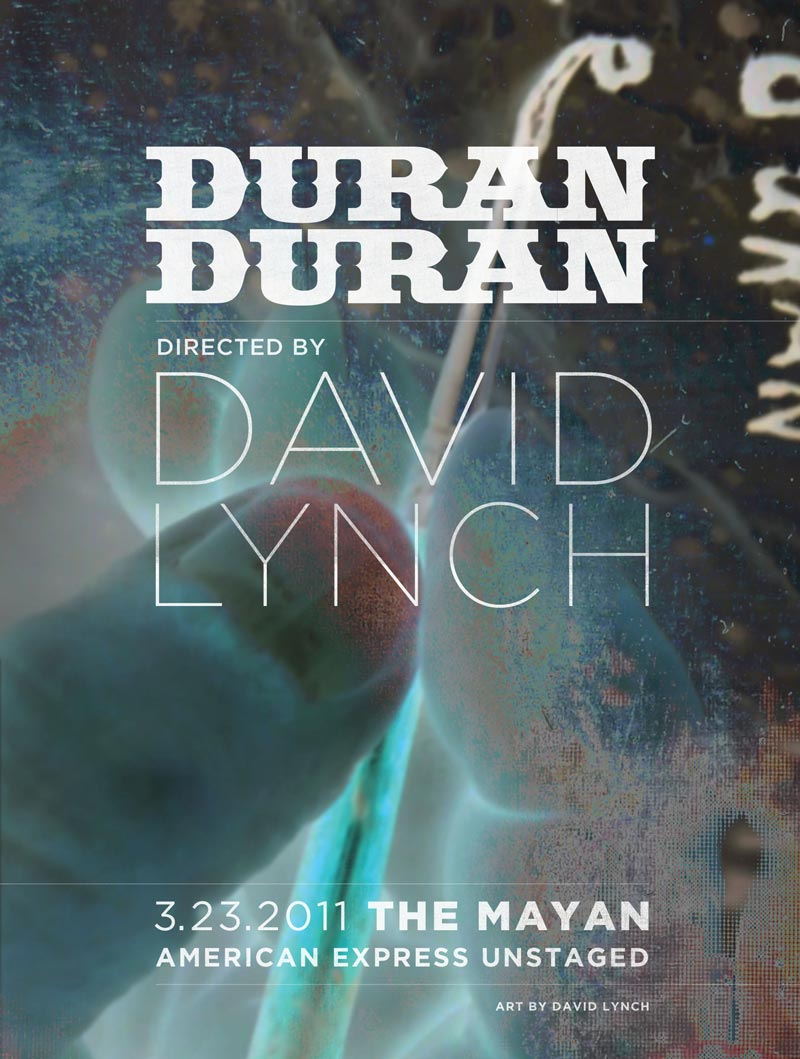 Duran Duran directed by David Lynch - Unstaged (2011)