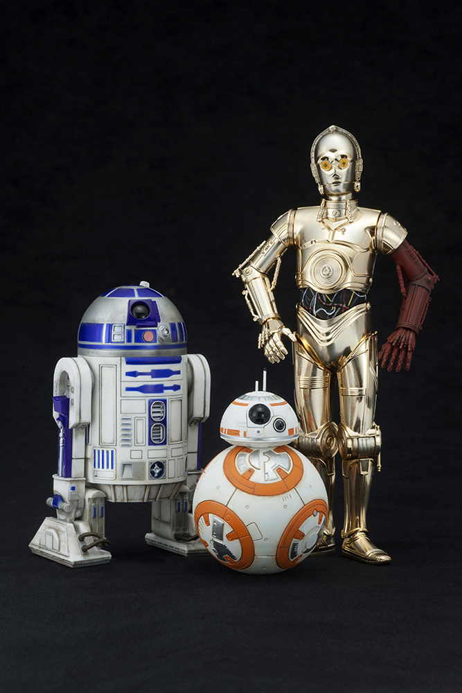 Star Wars VII - Artfx Figure scala 1/10 - C3PO & R2D2 & BB8