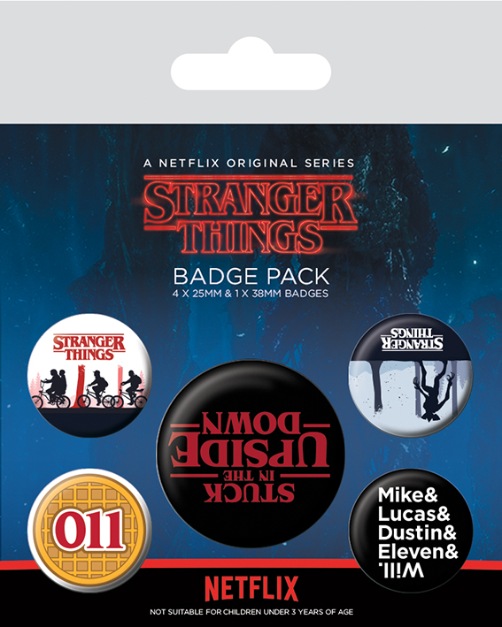 Stranger Things - Spille - Upside down badge pack