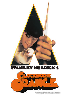 Clockwork Orange (A) - Arancia meccanica - Insegna in metallo - Knife Tin sign (20x29 cm)