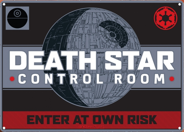 Star Wars - Insegna in metallo - Death Star Tin sign (21x15 cm)
