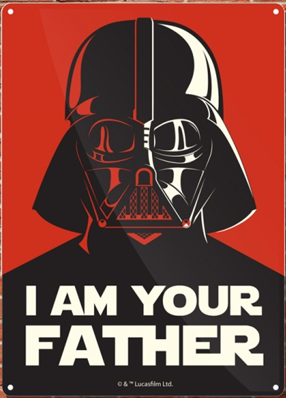 Star Wars - Insegna in metallo - I am your father Tin sign (21x15 cm)