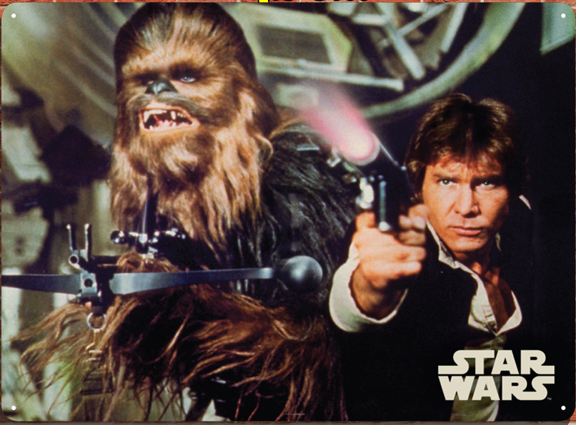 Star Wars - Insegna in metallo - Han & Chewbacca Tin sign (29,5x42 cm)