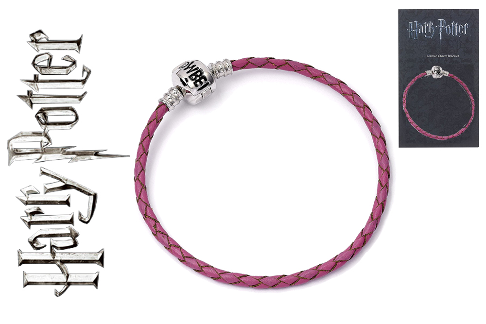 Harry Potter - Braccialetto per ciondoli - Pink leather charm bracelete