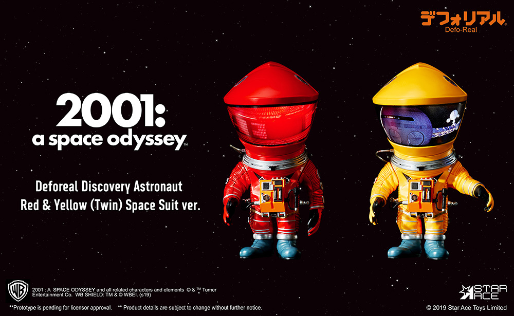2001 A Space Odissey DF astronaut red & yellow 2 pack (15 cm)