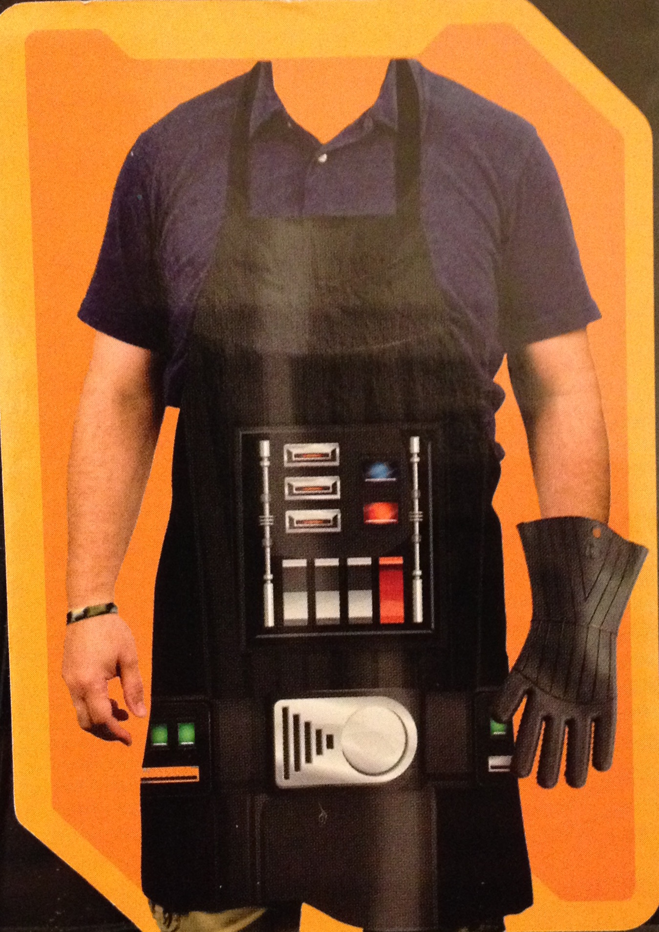 Star Wars - Grembiule e replica guanto - Darth Vader - Apron and replica oven mitt