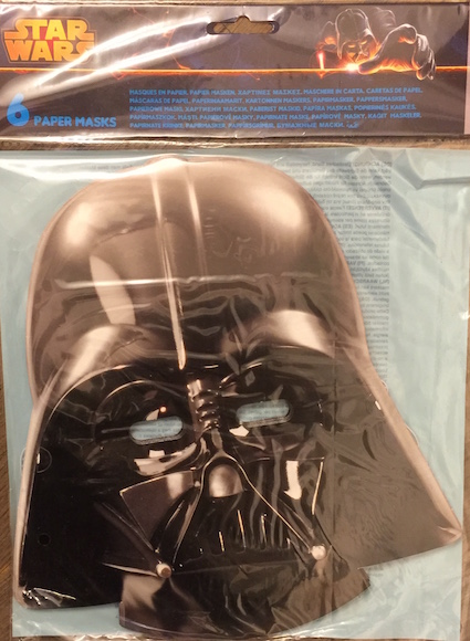 Star Wars - Maschera di carta - Darth Vader paper mask (6 maschere)