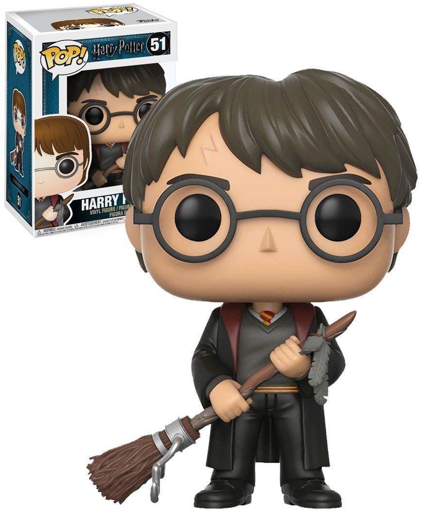 Funko Pop vinyl - Harry Potter - Harry with firebolt and feather (ltd) #51