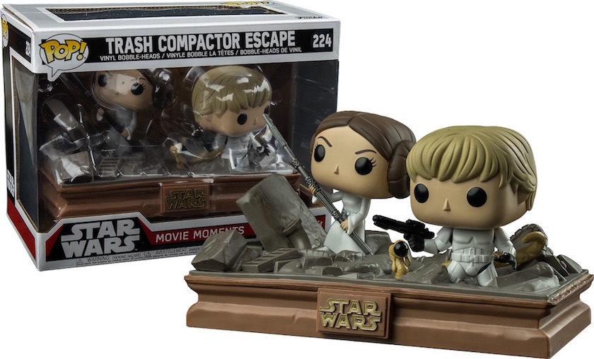 Star Wars - Funko Pop Movie Moment - Luke and Leia trash compactor ltd #224
