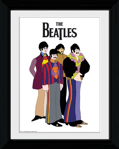 Beatles (The) - Yellow submarine group (stampa in cornice)