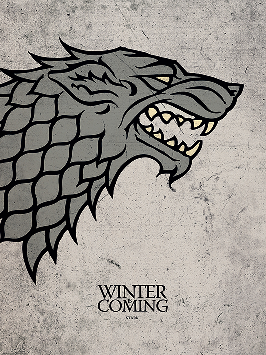 Game of Thrones - Trono di Spade - Stark - Winter is coming