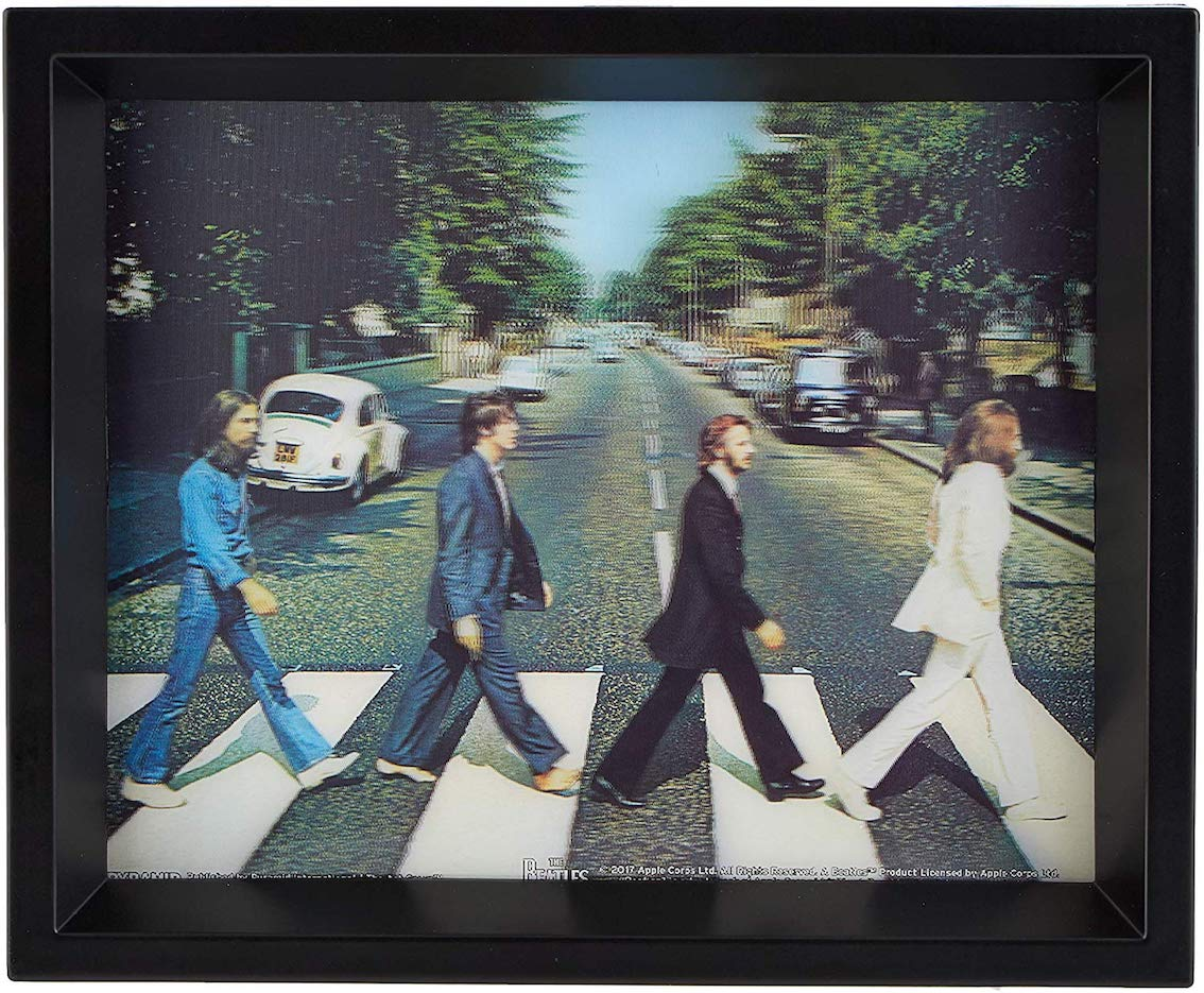Beatles (The) - Abbey Road - 3D Lenticular Poster In Cornice