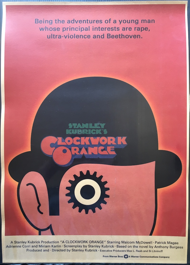 Stanley Kubrick - retro poster su cartoncino kraft - Clockwork Orange - Arancia meccanica