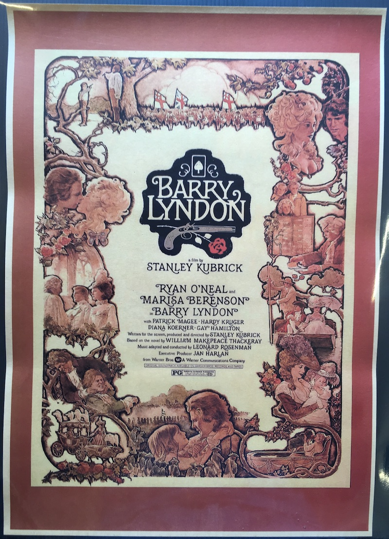Stanley Kubrick - retro poster su cartoncino kraft - Barry Lyndon