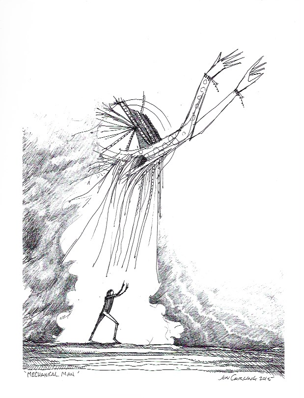Stampa d'arte - Jon Carling - Mechanical man